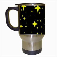 Bright Yellow   Stars In Space Travel Mugs (white) by Costasonlineshop