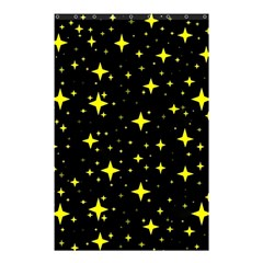 Bright Yellow   Stars In Space Shower Curtain 48  X 72  (small)  by Costasonlineshop