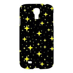 Bright Yellow   Stars In Space Samsung Galaxy S4 I9500/i9505 Hardshell Case by Costasonlineshop