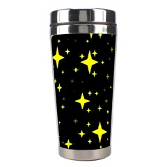 Bright Yellow   Stars In Space Stainless Steel Travel Tumblers by Costasonlineshop