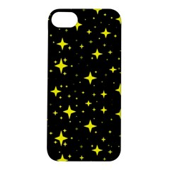 Bright Yellow   Stars In Space Apple Iphone 5s/ Se Hardshell Case by Costasonlineshop