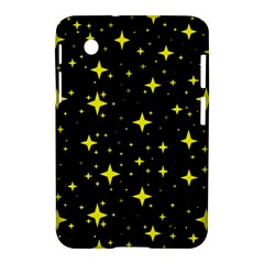 Bright Yellow   Stars In Space Samsung Galaxy Tab 2 (7 ) P3100 Hardshell Case  by Costasonlineshop