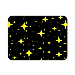 Bright Yellow   Stars In Space Double Sided Flano Blanket (mini)  by Costasonlineshop
