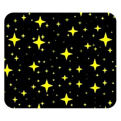 Bright Yellow   Stars In Space Double Sided Flano Blanket (small)  by Costasonlineshop