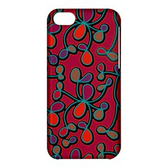 Red Floral Pattern Apple Iphone 5c Hardshell Case by Valentinaart