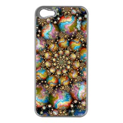 Marbled Spheres Spiral Apple Iphone 5 Case (silver) by WolfepawFractals