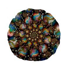 Marbled Spheres Spiral Standard 15  Premium Flano Round Cushions by WolfepawFractals