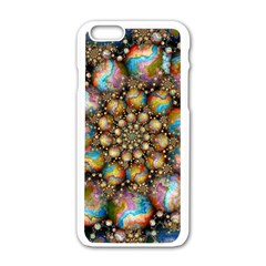 Marbled Spheres Spiral Apple Iphone 6/6s White Enamel Case by WolfepawFractals