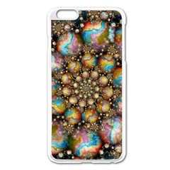 Marbled Spheres Spiral Apple Iphone 6 Plus/6s Plus Enamel White Case by WolfepawFractals