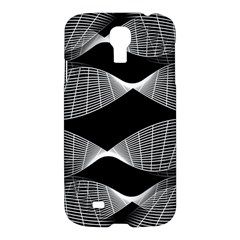Wavy Lines Black White Seamless Repeat Samsung Galaxy S4 I9500/i9505 Hardshell Case by CrypticFragmentsColors