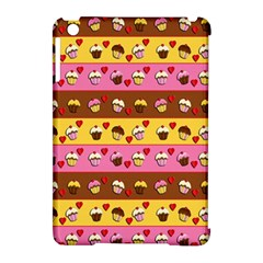 Cupcakes Pattern Apple Ipad Mini Hardshell Case (compatible With Smart Cover) by Valentinaart
