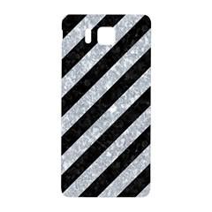 Stripes3 Black Marble & Gray Marble Samsung Galaxy Alpha Hardshell Back Case by trendistuff