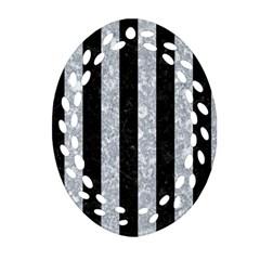 STR1 BK-GY MARBLE Ornament (Oval Filigree)  by trendistuff