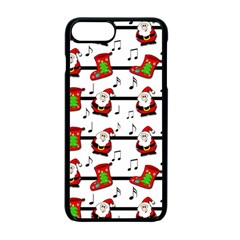 Xmas song pattern Apple iPhone 7 Plus Seamless Case (Black)