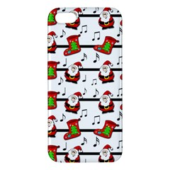 Xmas Song Pattern Apple Iphone 5 Premium Hardshell Case by Valentinaart