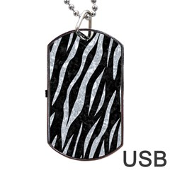 Skin3 Black Marble & Gray Marble Dog Tag Usb Flash (one Side) by trendistuff