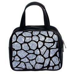 Skin1 Black Marble & Gray Marble Classic Handbag (two Sides) by trendistuff