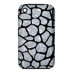 Skin1 Black Marble & Gray Marble Apple Iphone 3g/3gs Hardshell Case (pc+silicone) by trendistuff