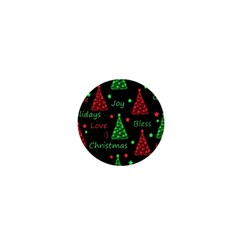New Year Pattern   Red And Green 1  Mini Buttons by Valentinaart