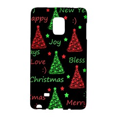 New Year Pattern   Red And Green Galaxy Note Edge by Valentinaart