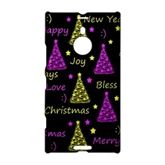 New Year Pattern   Yellow And Purple Nokia Lumia 1520 by Valentinaart