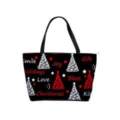 New Year Pattern   Red Shoulder Handbags by Valentinaart