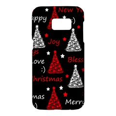New Year Pattern   Red Samsung Galaxy S7 Hardshell Case  by Valentinaart