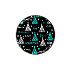 New Year Pattern   Cyan Hat Clip Ball Marker (10 Pack) by Valentinaart