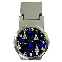 New Year Pattern   Blue Money Clip Watches by Valentinaart