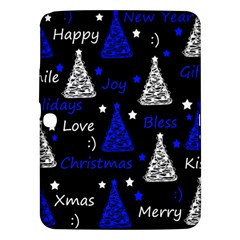 New Year Pattern   Blue Samsung Galaxy Tab 3 (10 1 ) P5200 Hardshell Case  by Valentinaart