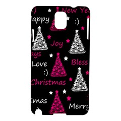 New Year Pattern   Magenta Samsung Galaxy Note 3 N9005 Hardshell Case by Valentinaart