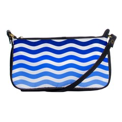 Water White Blue Line Shoulder Clutch Bags by AnjaniArt