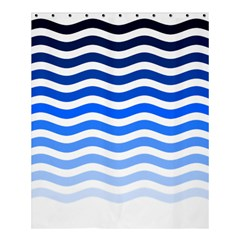 Water White Blue Line Shower Curtain 60  X 72  (medium)  by AnjaniArt