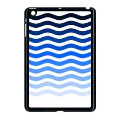 Water White Blue Line Apple Ipad Mini Case (black) by AnjaniArt