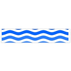 Water White Blue Line Flano Scarf (small) by AnjaniArt