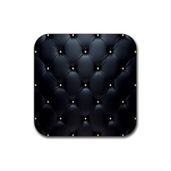 Black Skin Rubber Coaster (square)  by AnjaniArt