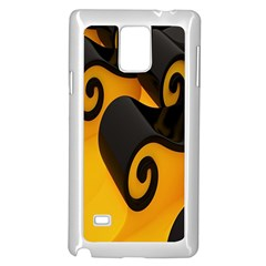 Black Yellow Samsung Galaxy Note 4 Case (white) by AnjaniArt