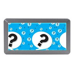 Blue Question Mark Memory Card Reader (Mini) by AnjaniArt