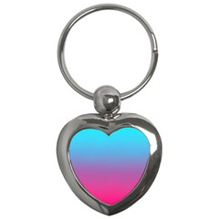 Blue Pink Purple Key Chains (heart)  by AnjaniArt