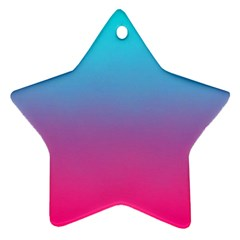 Blue Pink Purple Star Ornament (two Sides)  by AnjaniArt