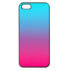 Blue Pink Purple Apple Iphone 5 Seamless Case (black) by AnjaniArt