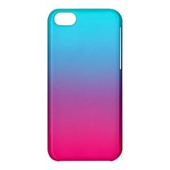 Blue Pink Purple Apple Iphone 5c Hardshell Case by AnjaniArt