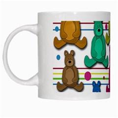 Teddy Bear White Mugs by Valentinaart