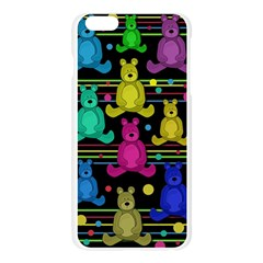 Teddy bear 2 Apple Seamless iPhone 6 Plus/6S Plus Case (Transparent) by Valentinaart
