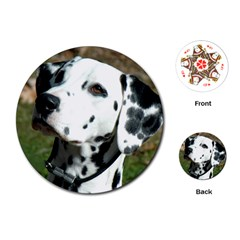 Dalmatian Playing Cards (Round)  by TailWags