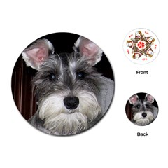 Mini Schnauzer Playing Cards (Round)  by TailWags