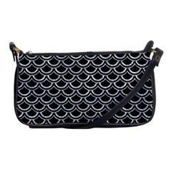 Scales2 Black Marble & Gray Marble Shoulder Clutch Bag by trendistuff