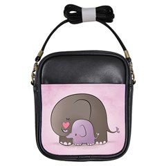Cute Elephant Girls Sling Bags by AnjaniArt