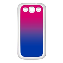 Pink Blue Purple Samsung Galaxy S3 Back Case (white) by AnjaniArt