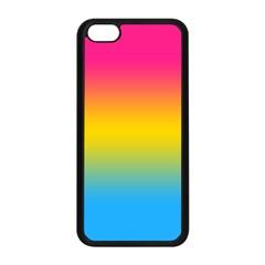 Pink Orange Green Blue Apple Iphone 5c Seamless Case (black) by AnjaniArt